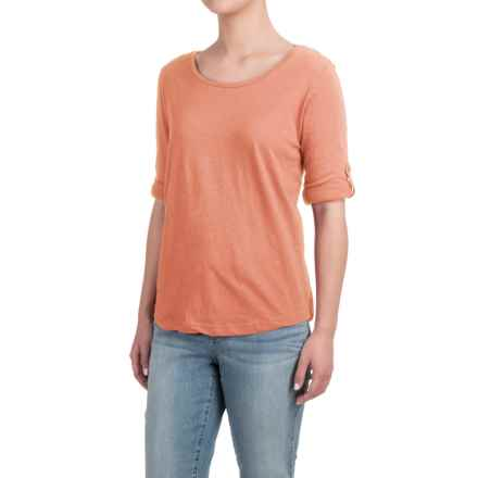Heathered Shirt - Long Sleeve (For Women) in Peach - 2nds
