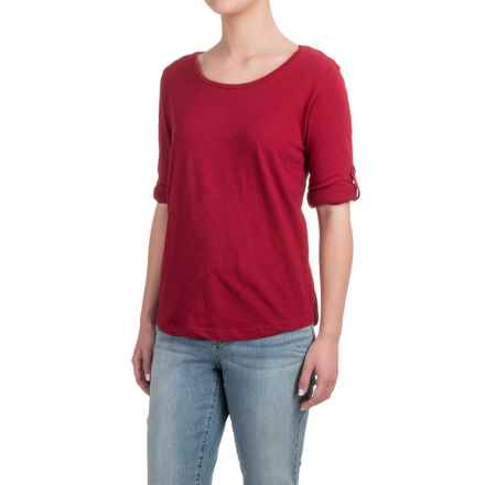 Heathered Shirt - Long Sleeve (For Women) in Red - 2nds
