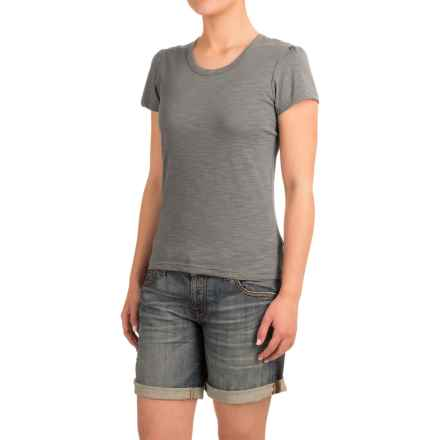 Heathered Slub-Knit Shirt - Short Sleeve (For Women) in Grey Heather - Closeouts