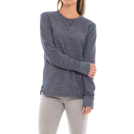 Heathered Sweatshirt with V-Insert (For Women) in Blue Heather - 2nds
