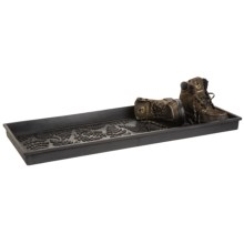 "Heavy-Duty Rubber Boot Tray - 14x34"" in Ferns - 2nds"