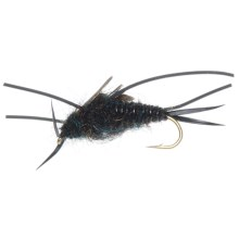 Heavy Weighted Rubber Leg Stone Nymph Fly - Dozen in Natural - Closeouts