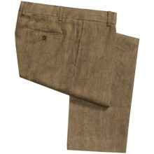 Heavyweight Linen Pants (For Men) in Herringbone - Closeouts