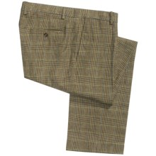Heavyweight Linen Pants (For Men) in Plaid - Closeouts