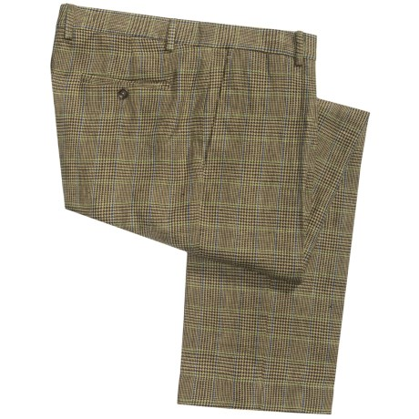 Heavyweight Linen Pants (For Men) in Plaid