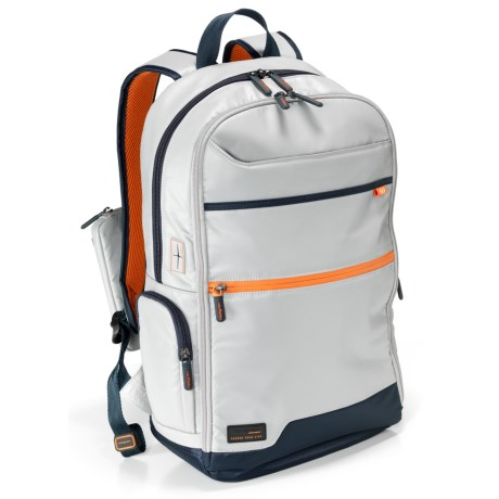 Hedgren Connect Junction Backpack - Retractable USB Cable (For Women) in Light Grey/Blue