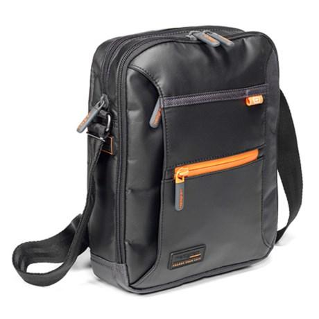 Hedgren Crossing Passage Vertical Crossover Bag in Black/Grey
