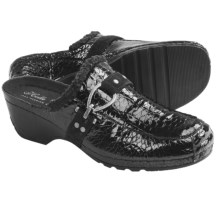 Helle Comfort Adel Leather Clogs (For Women) in Black Patent - Closeouts