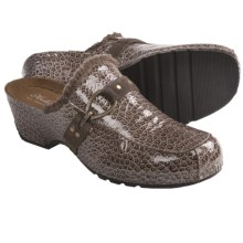 Helle Comfort Adel Leather Clogs (For Women) in Taupe Patent - Closeouts