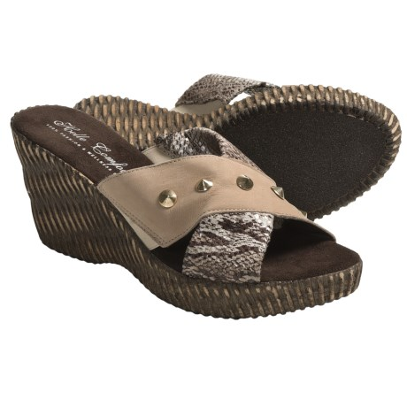 Helle Comfort Jam Wedge Sandals (For Women) in Crocket Honey