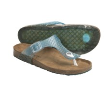 Helle Comfort Janille Thong Sandals (For Women) in Aqua - Closeouts