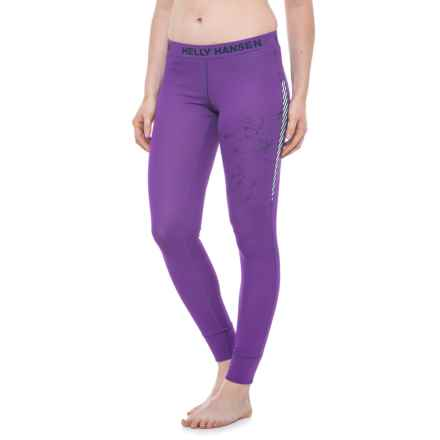 Helly Hansen Active Flow Base Layer Bottoms (For Women) in Sunburned Purple - Closeouts