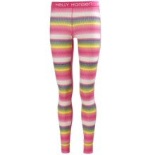 Helly Hansen Active Flow Base Layer Bottoms - Graphic Print (For Women) in Magenta/Multi - Closeouts