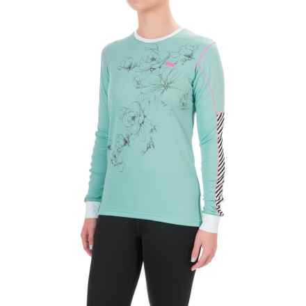 Helly Hansen Active Flow Base Layer Top - Crew Neck, Long Sleeve (For Women) in Sea Breeze - Closeouts