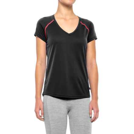 Helly Hansen Active Flow Base Layer Top - UPF 50, Short Sleeve (For Women) in Black - Closeouts