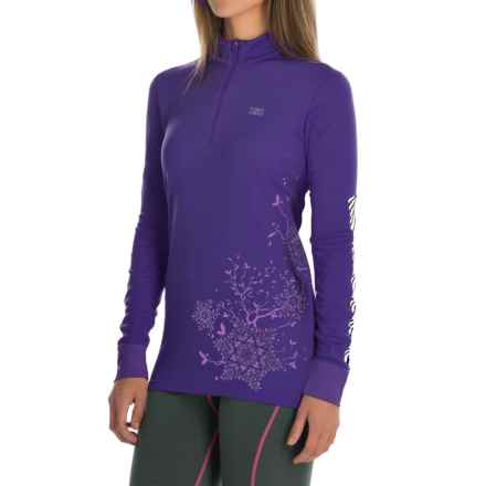 Helly Hansen Active Flow Base Layer Top - Zip Neck, Long Sleeve (For Women) in Nordic Purple - Closeouts