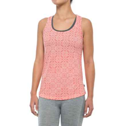 Helly Hansen Active Flow Singlet - UPF 50, Sleeveless (For Women) in Blossom Print - Closeouts