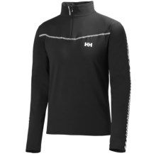 Helly Hansen Altitude Midlayer Pullover - Zip Neck (For Men) in Black - Closeouts