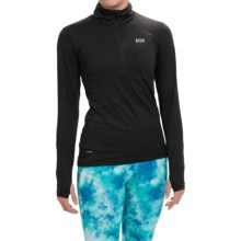 Helly Hansen Aspire Norviz Shirt - UPF 30, Zip Neck, Long Sleeve (For Women) in Black - Closeouts