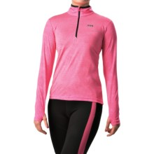 Helly Hansen Aspire Norviz Shirt - UPF 30, Zip Neck, Long Sleeve (For Women) in Neon Pink Heather - Closeouts