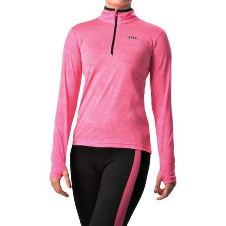 Helly Hansen Aspire Norviz Shirt UPF 30, Zip Neck, Long Sleeve (For Women)