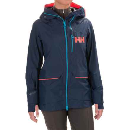 Helly Hansen Aurora Shell Ski Jacket - Waterproof (For Women) in Evening Blue - Closeouts