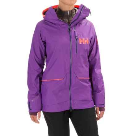 Helly Hansen Aurora Shell Ski Jacket - Waterproof (For Women) in Sunburned Purple - Closeouts