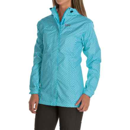 Helly Hansen Bellevue Rain Coat - Waterproof (For Women) in Aquamarine Check - Closeouts