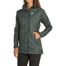 Helly Hansen Bellevue Rain Coat - Waterproof (For Women) in Rock Mini Dot Check - Closeouts