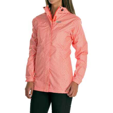 Helly Hansen Bellevue Rain Coat - Waterproof (For Women) in Sorbet Check - Closeouts