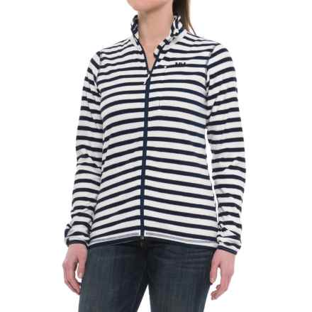 Helly Hansen Bykle Graphic Fleece Jacket (For Women) in Offwhite/Blue - Closeouts