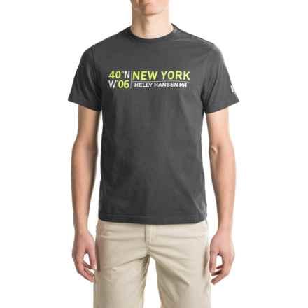 Helly Hansen City T-Shirt - Short Sleeve (For Men) in Ebony/Magenta - Closeouts