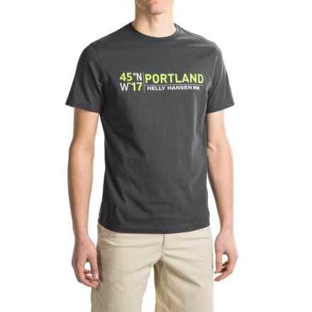 Helly Hansen City T-Shirt - Short Sleeve (For Men) in Ebony Print - Closeouts