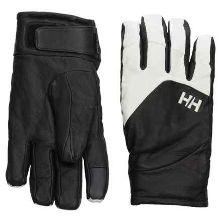 Helly Hansen Covert HT PrimaLoft® Gloves - Waterproof, Insulated, Leather (For Men) in Black/White - Closeouts