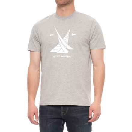 Helly Hansen Crew T-Shirt - Short Sleeve (For Men) in Light Grey - Closeouts