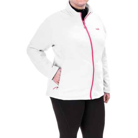 Helly Hansen Daybreaker Fleece Jacket - Full Zip (For Plus Size Women) in White - Closeouts