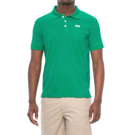 Helly Hansen Driftline Polo Shirt - Short Sleeve (For Men) in Norge Green - Closeouts
