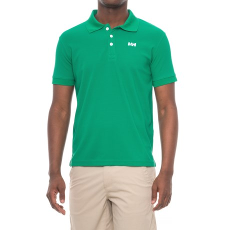 Helly Hansen Driftline Polo Shirt - Short Sleeve (For Men) in Norge Green
