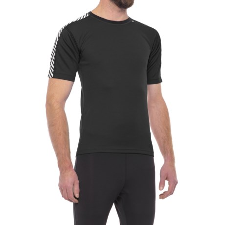 Helly Hansen Dry Stripe Base Layer Top - Short Sleeve (For Men) in Black