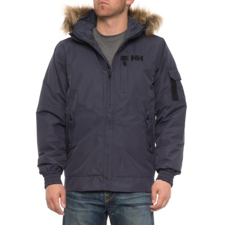 9a292bc94b77 Helly Hansen Dubliner Bomber Jacket - Waterproof, Insulated (For Men) in  Graphite Blue