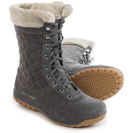 Helly Hansen Eir 4 Snow Boots - Waterproof (For Women) in Charcoal - Closeouts