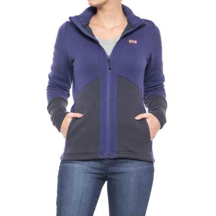 Helly Hansen EQ Black Midlayer Jacket (For Women) in Lavender - Closeouts