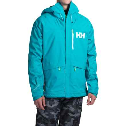 Helly Hansen Fernie PrimaLoft® Ski Jacket - Waterproof, Insulated (For Men) in Tropic Green - Closeouts