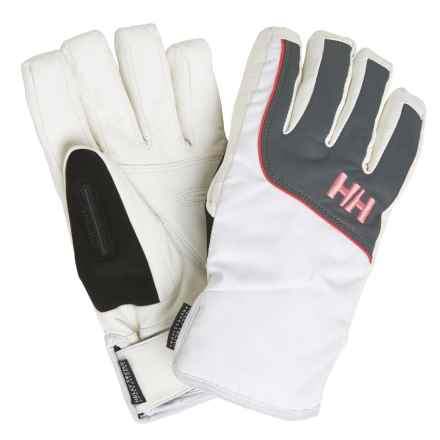 Helly Hansen Freya Helly Tech® Gloves - Waterproof, Insulated (For Women) in White/Grey - Closeouts