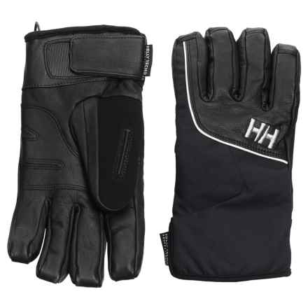 Helly Hansen Freya HT Gloves - Waterproof, Insulated, Leather (For Women) in Black - Closeouts