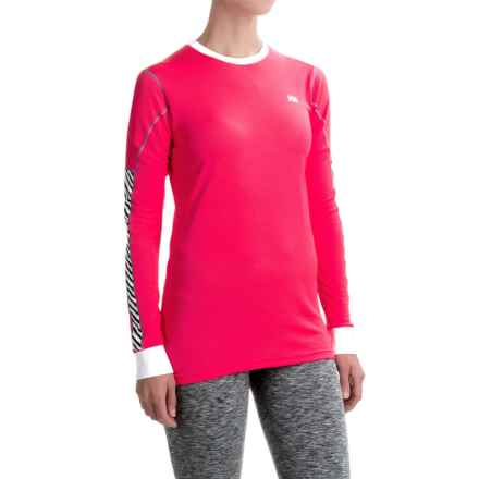 Helly Hansen HH Active Flow Shirt - Crew Neck, Long Sleeve (For Women) in Pink Glow - Closeouts