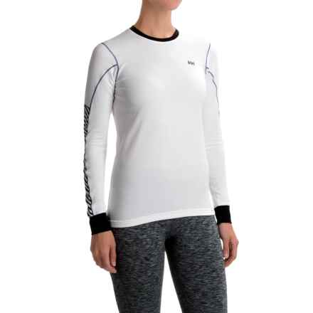 Helly Hansen HH Active Flow Shirt - Crew Neck, Long Sleeve (For Women) in White/Pri - Closeouts