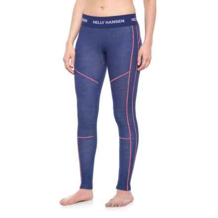 Helly Hansen HH LIFA® Merino Base Layer Pants - Merino Wool (For Women) in Lavender - Closeouts