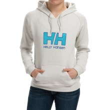 Helly Hansen HH Logo Hoodie (For Women) in Ash Grey/Ice Blue - Closeouts