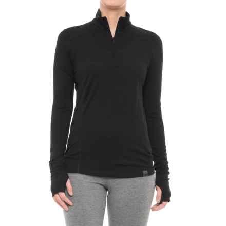 Helly Hansen HH Merino Mid Base Layer Top - Merino Wool, Zip Neck, Long Sleeve  (For Women) in Black - Closeouts